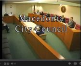 Macedonia City Council Meeting 9.22.16