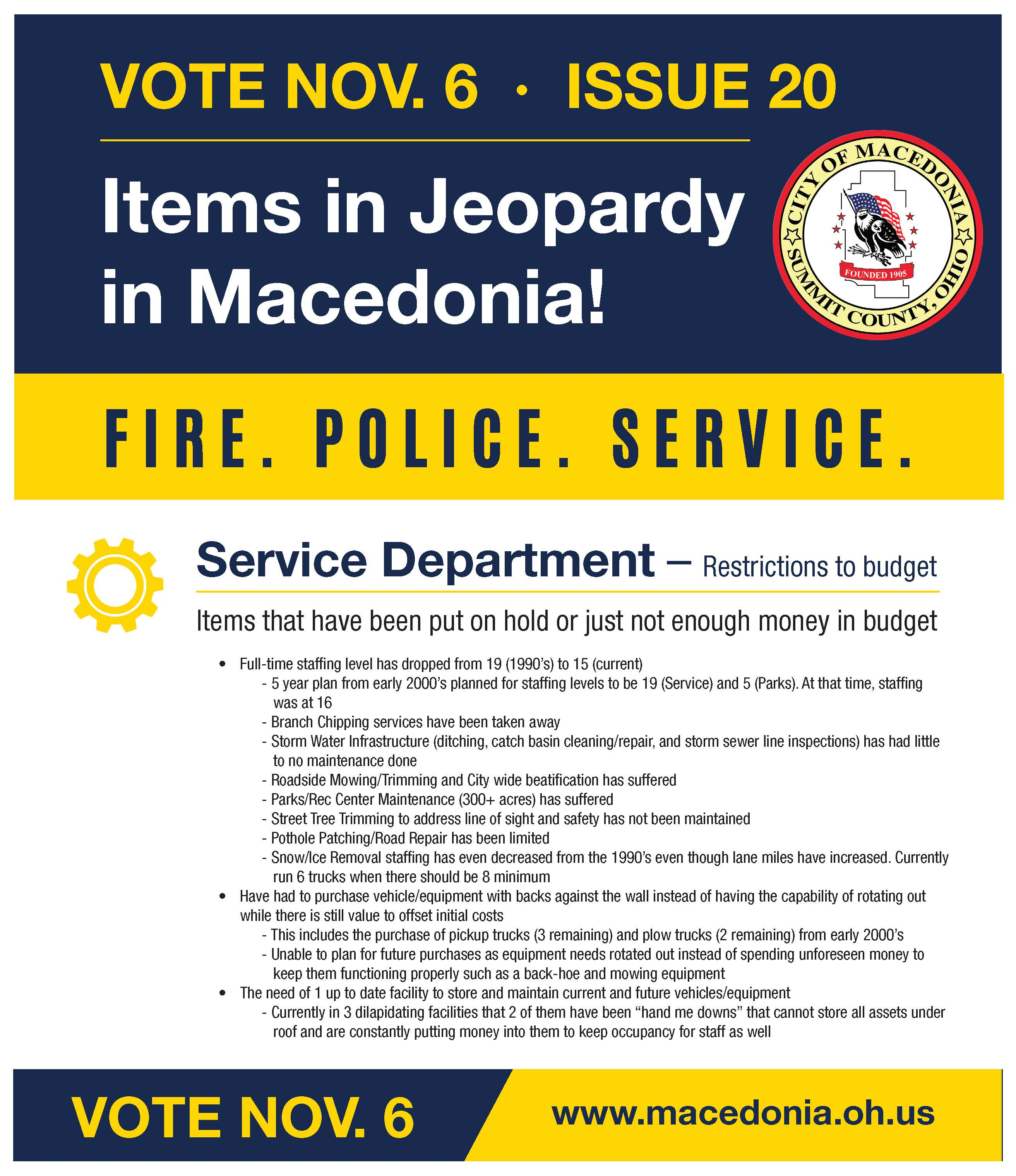 SERVICE Jeopardy Items