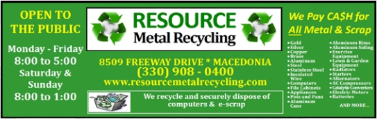 CONGRATULATIONS TO THE BUSINESS OF THE MONTH ... Resource Metals