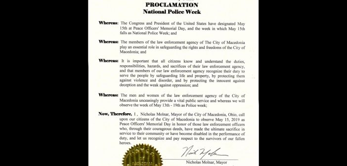 A message from the Mayor and City Council observance of Peace Officers' Memorial Day and National Police Week