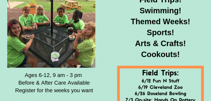 Summer Camp Monday – Friday June 10 – August 9