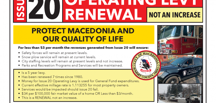 Support Issue 20: Operating Levy Renewal